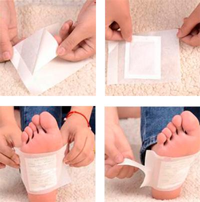 Очищающий пластырь на стопы